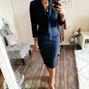 Nife Navy Career Midi Dress Size 2